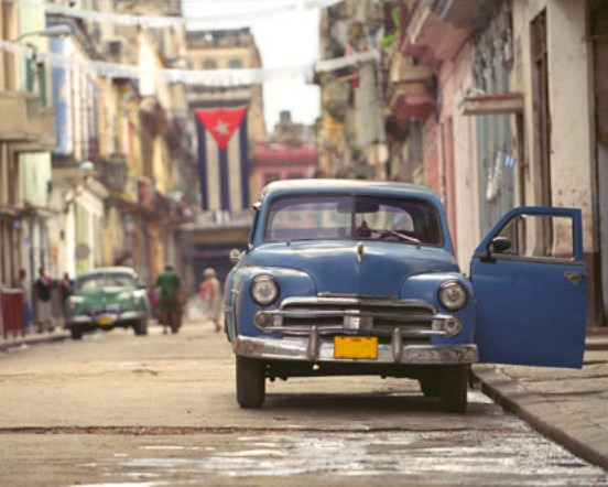 The classic car in Havana