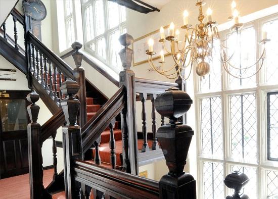 Talbot Hotel oak staircase